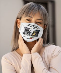 Snoopy This Is How I Social Distance Bon Jovi face mask1