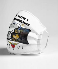 Snoopy This Is How I Social Distance Bon Jovi face mask2
