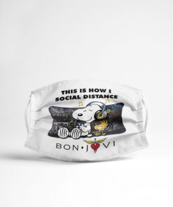 Snoopy This Is How I Social Distance Bon Jovi face mask3