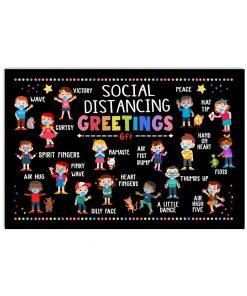 Social Distancing Greetings 6 Feet Away Poster 1