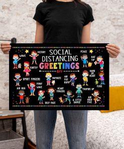 Social Distancing Greetings 6 Feet Away Poster 2
