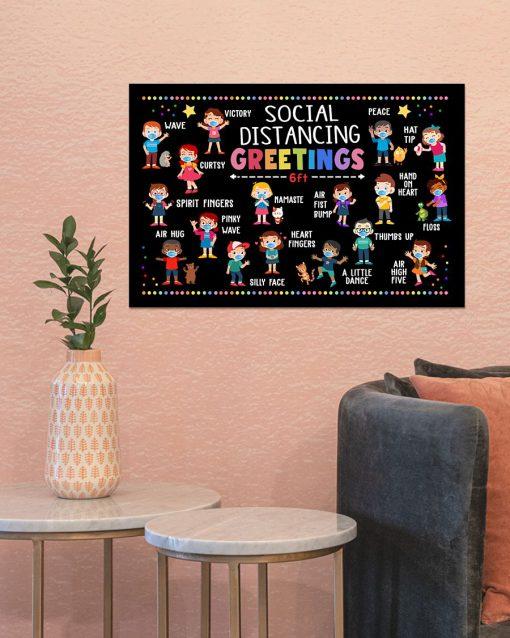 Social Distancing Greetings 6 Feet Away Poster 3