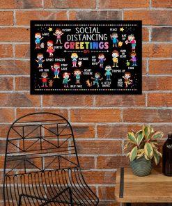 Social Distancing Greetings 6 Feet Away Poster 4