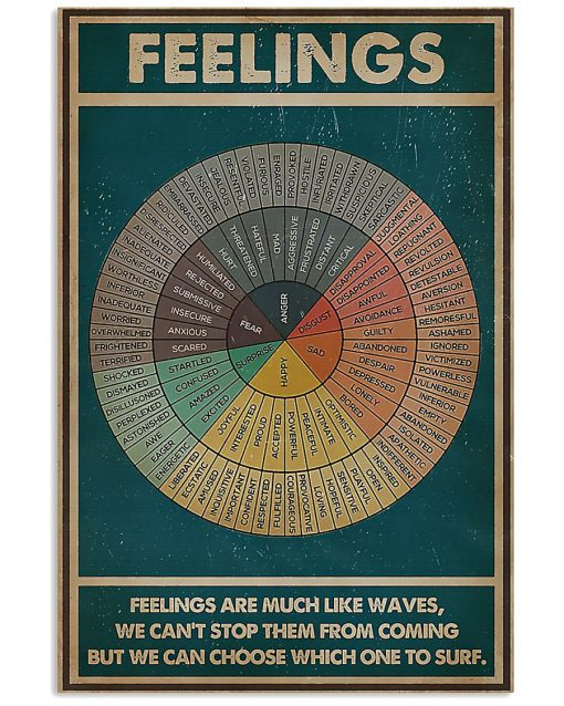 Social Worker Feelings are much like waves, we can't stop them from coming but we can choose which one to surf poster