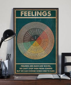 Social Worker Feelings are much like waves, we can't stop them from coming but we can choose which one to surf poster2