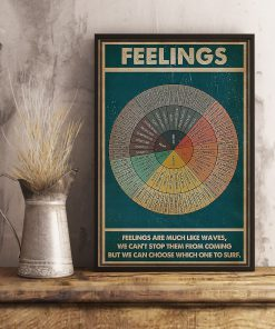 Social Worker Feelings are much like waves, we can't stop them from coming but we can choose which one to surf poster3