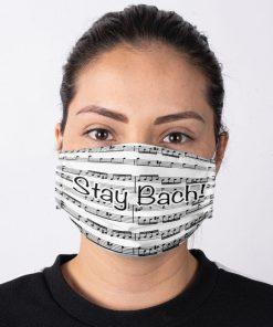 Stay Bach Sheet music face mask 2
