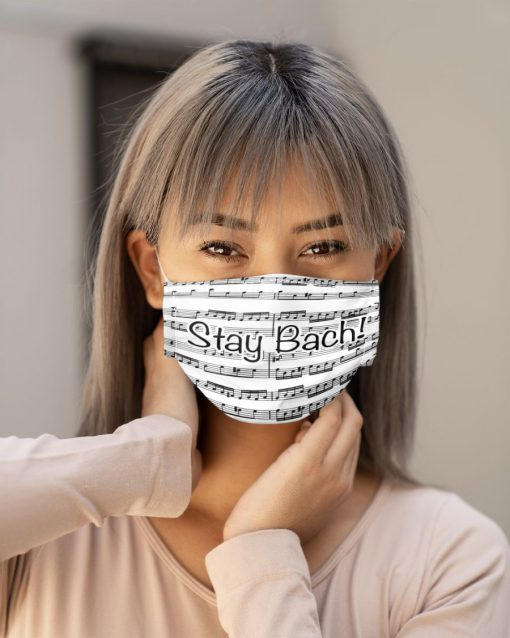 Stay Bach Sheet music face mask 4