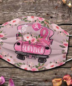 Survivor Hope Breast Cancer Awareness face mask 0