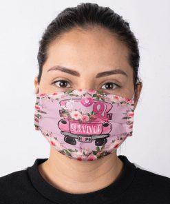 Survivor Hope Breast Cancer Awareness face mask 4