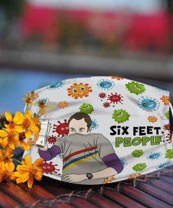 The Big Bang Theory Sheldon Cooper Six Feet People Face Mask 0