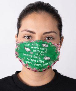 The Big Bang Theory - Soft Kitty lyrics face mask2