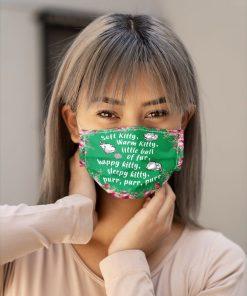 The Big Bang Theory - Soft Kitty lyrics face mask5