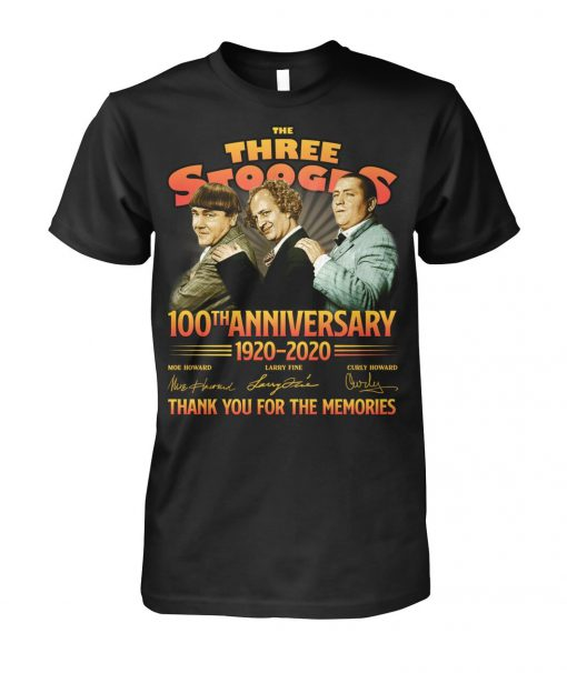 The Three Stooges 100th Anniversary 1920-2020 T-shirt