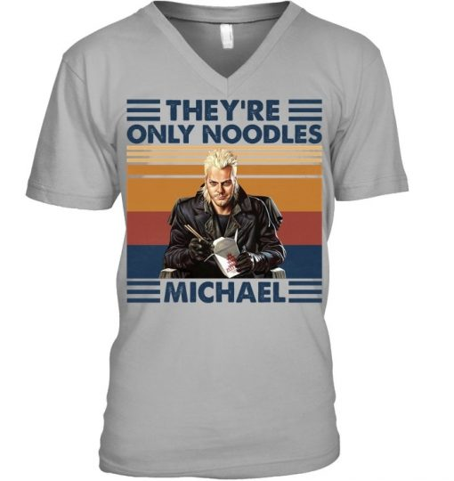 They're only noodles Michael V-neck