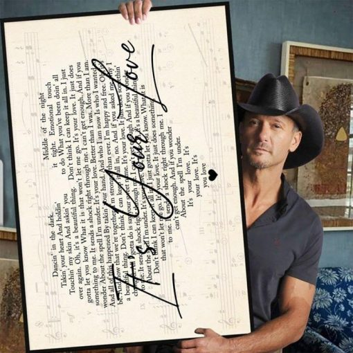 Tim McGraw - It's Your Love lyrics poster