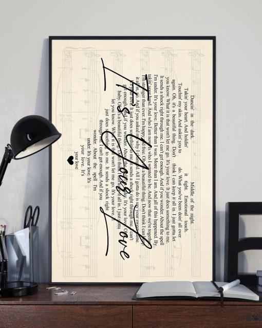 Tim McGraw - It's Your Love lyrics poster2