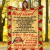 To my girlfriend I may not be your first love, first kiss fist sight or first date I love you with all my heart fleece blanket