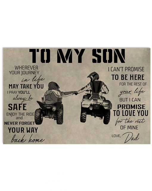To my son wherever your journey in life may take you I pray you'll always be safe All-terrain vehicle poster
