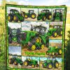 Tractor Farmer personalized fleece blanket