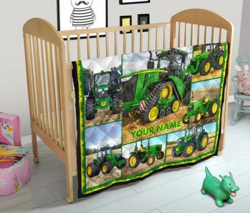Tractor Farmer personalized fleece blanket5