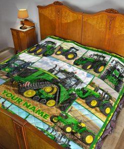 Tractor Farmer personalized fleece blanketd