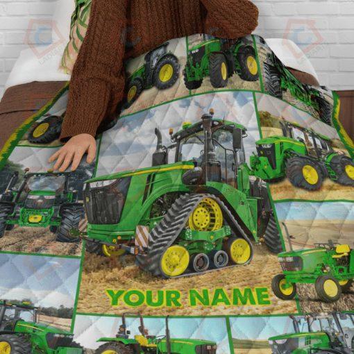 Tractor Farmer personalized fleece blanketf