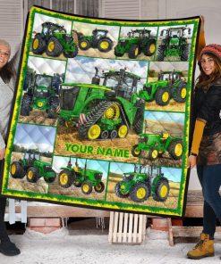 Tractor Farmer personalized fleece blanketg