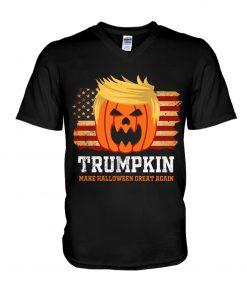 Trumpkin make halloween great again V-neck
