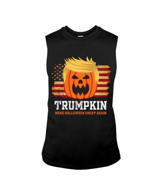 Trumpkin make halloween great again tank top