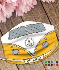 Volkswagen Hippie Be Kind Face mask