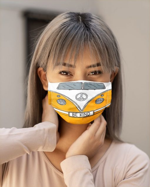 Volkswagen Hippie Be Kind Face mask3