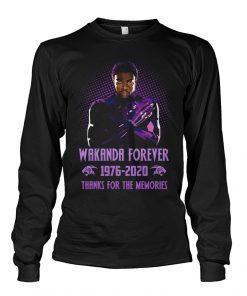 Wakanda Forever 1976-2020 Thanks for the memories long sleeve