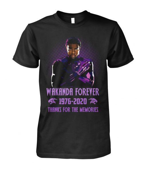 Wakanda Forever 1976-2020 Thanks for the memories shirt