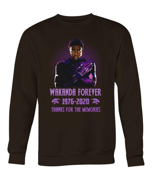 Wakanda Forever 1976-2020 Thanks for the memories sweatshirt