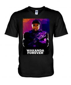 Wakanda Forever Watercolor V-neck