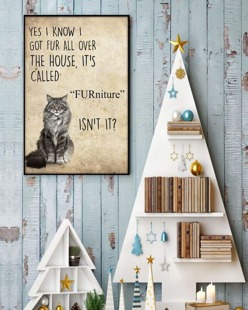 Yes I know I got fur all over the house It's call FURniture Isn't it Cat poster 3