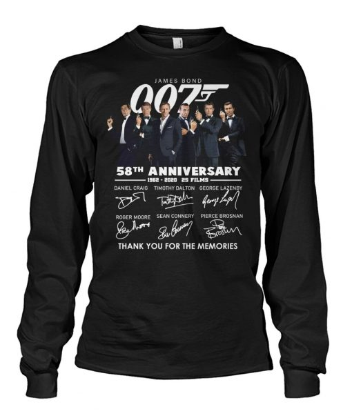 007 James Bond 58th Anniversary Long sleeve