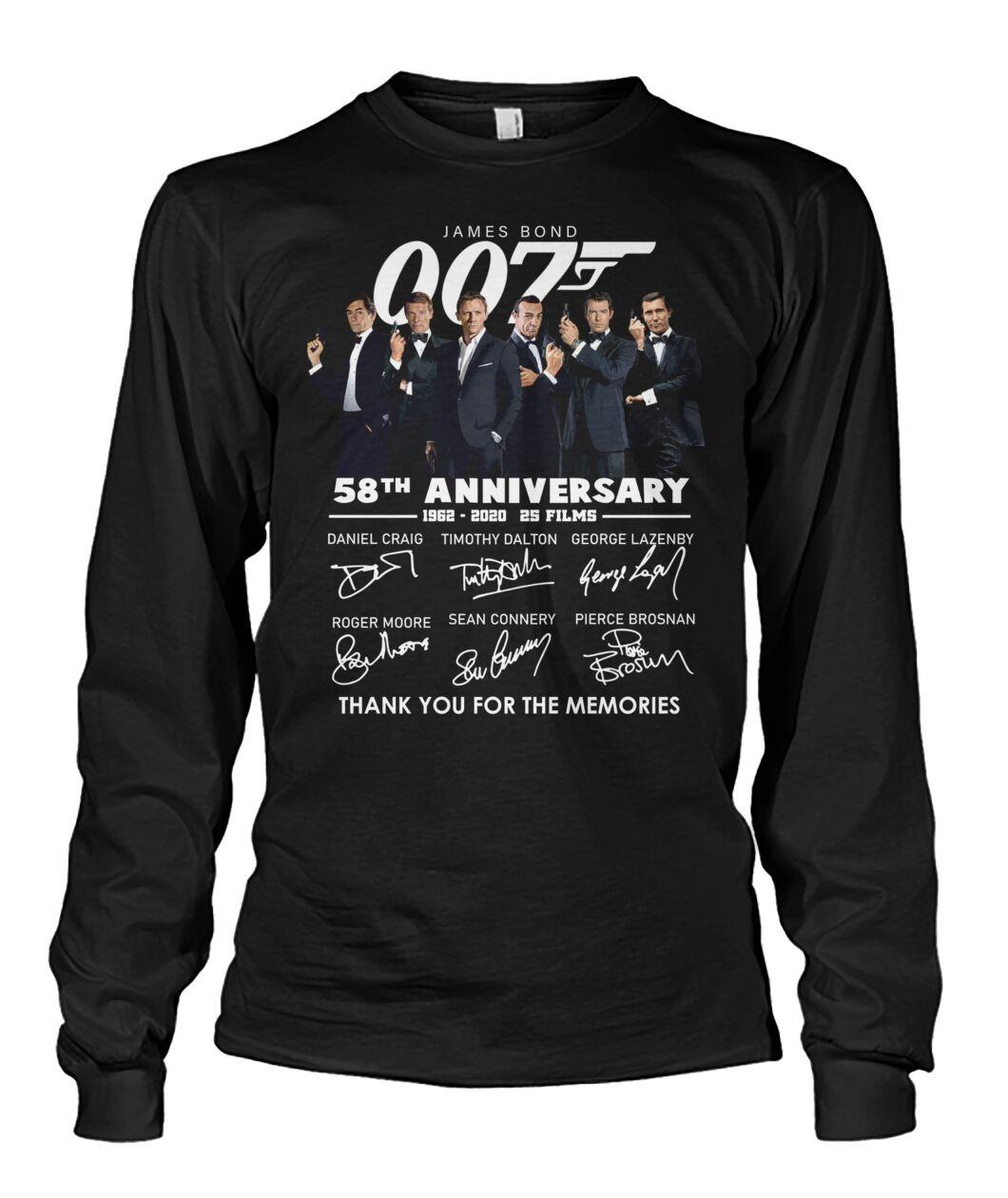 007 James Bond 58th Anniversary Long sleeve