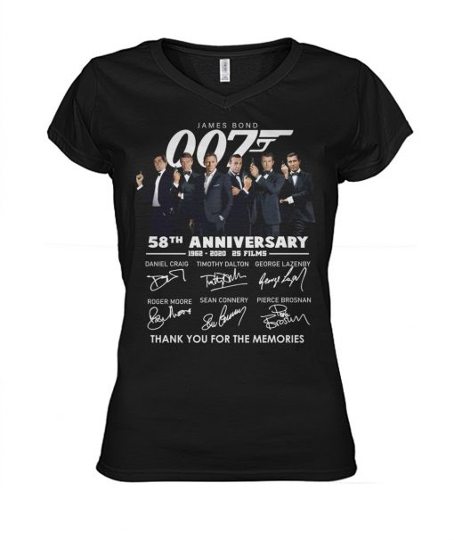 007 James Bond 58th Anniversary V-neck