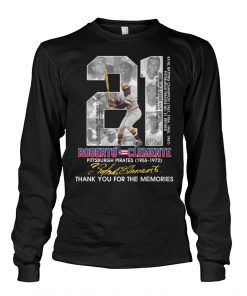21 Roberto Clemente Pittsburgh Pirates Thank you for the memories Long sleeve