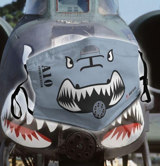 A-10 Thunderbolt II - Covid busters face mask 0