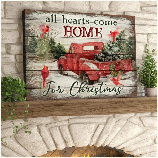 All Hearts Come Home for Christmas gallery wrapped canvas 1