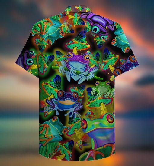 Amazing Frogs And Mushrooms Hawaiian Shirt1