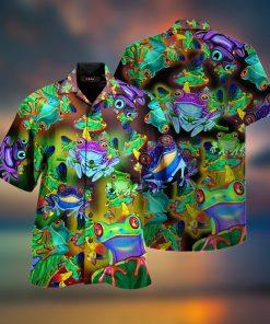 Amazing Frogs And Mushrooms Hawaiian Shirt2