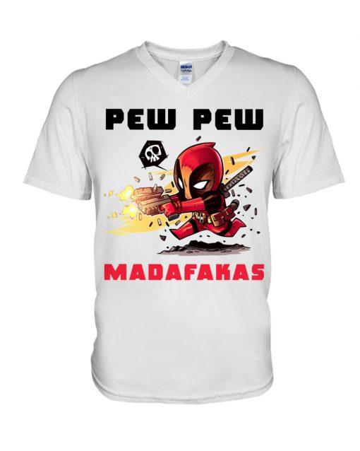 Baby Deadpool Pew Pew Madafakas v-neck