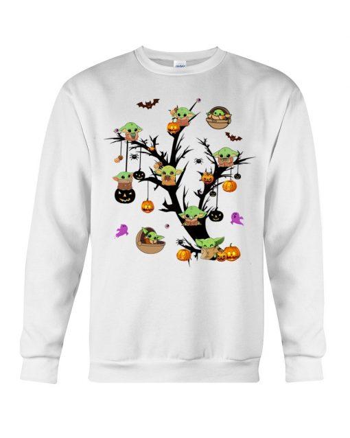 Baby Yoda Halloween tree Sweatshirt