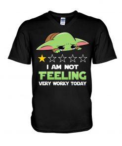 Baby Yoda I'm not feeling very worky today V-neck