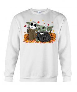 Baby Yoda Jack Skellington Halloween Sweatshirt