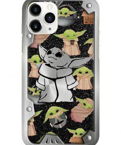 Baby Yoda Pattern phone case1